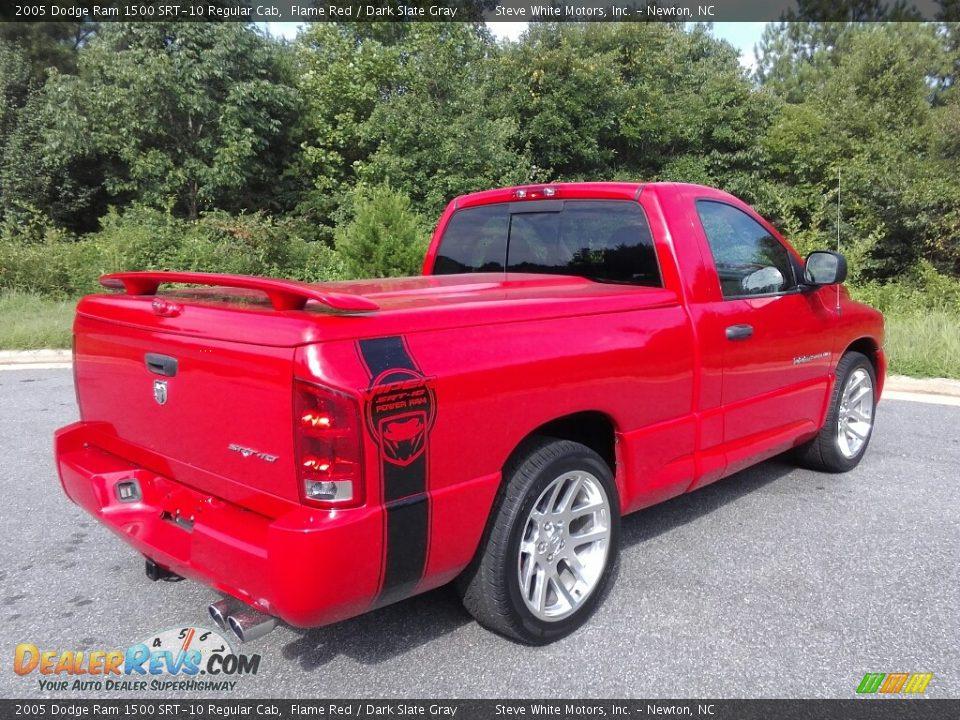 2005 Dodge Ram 1500 SRT-10 Regular Cab Flame Red / Dark Slate Gray Photo #6