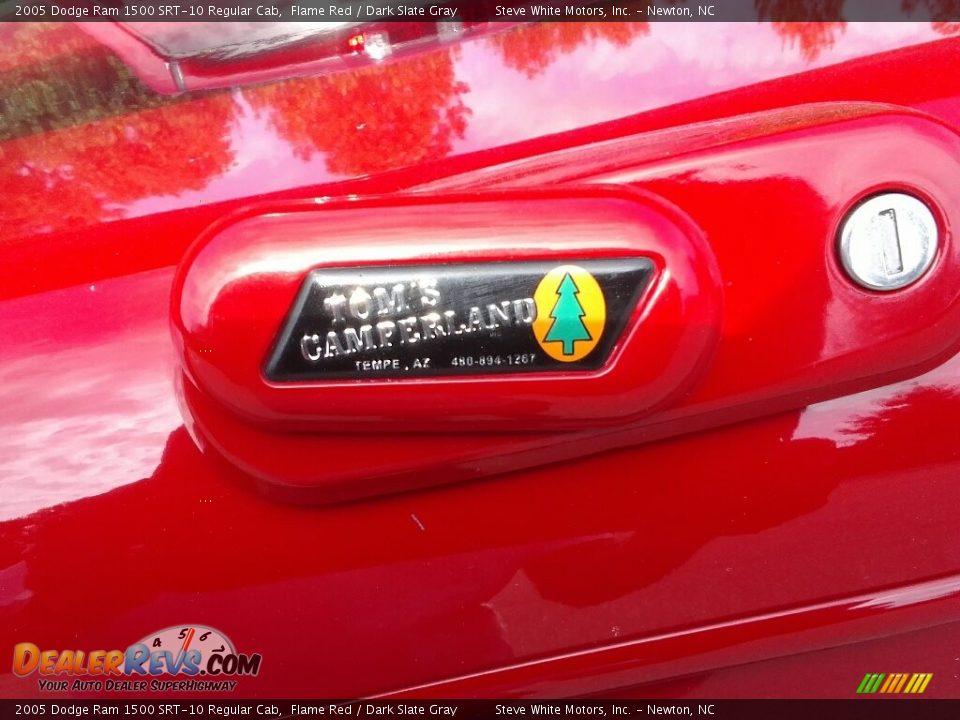 2005 Dodge Ram 1500 SRT-10 Regular Cab Flame Red / Dark Slate Gray Photo #35