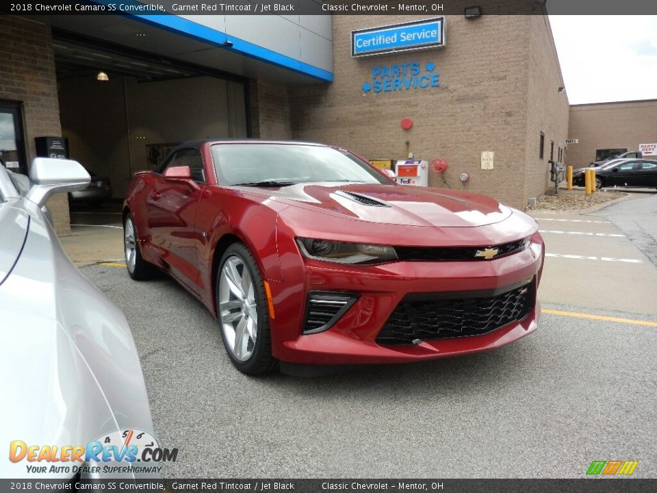 2018 Chevrolet Camaro SS Convertible Garnet Red Tintcoat / Jet Black Photo #3