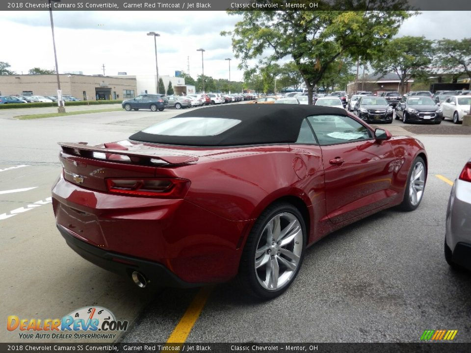 2018 Chevrolet Camaro SS Convertible Garnet Red Tintcoat / Jet Black Photo #5