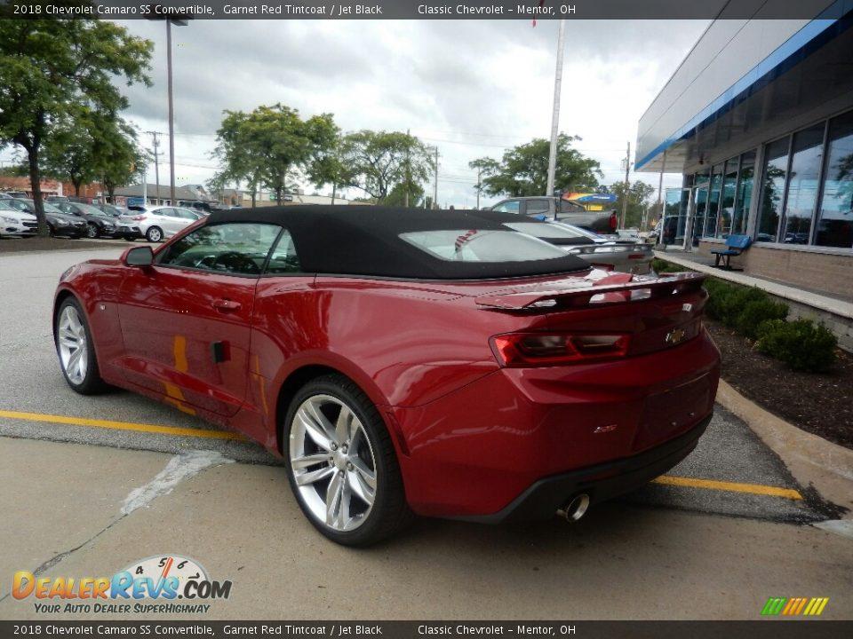 2018 Chevrolet Camaro SS Convertible Garnet Red Tintcoat / Jet Black Photo #6