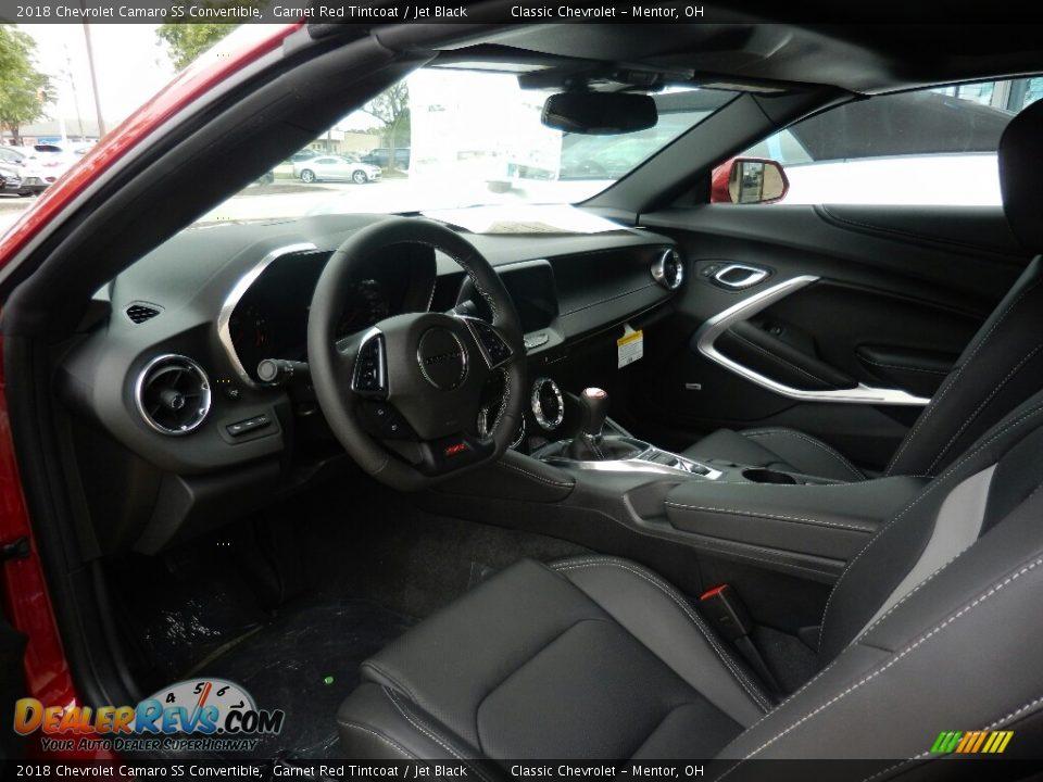 Jet Black Interior - 2018 Chevrolet Camaro SS Convertible Photo #7