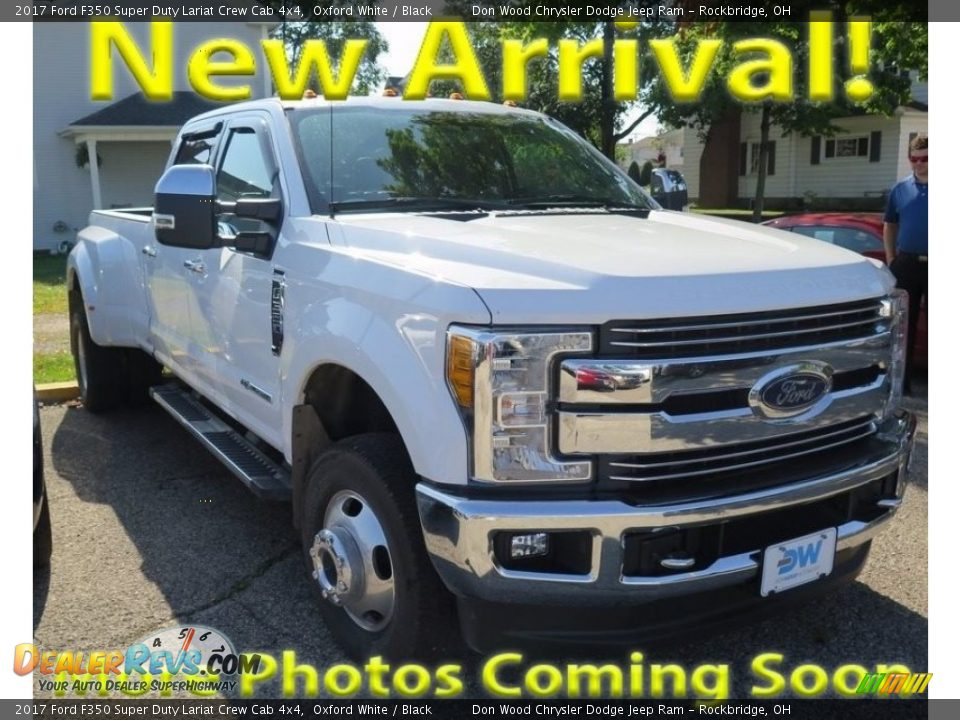 2017 Ford F350 Super Duty Lariat Crew Cab 4x4 Oxford White / Black Photo #1
