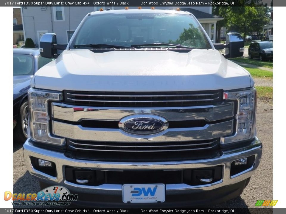 2017 Ford F350 Super Duty Lariat Crew Cab 4x4 Oxford White / Black Photo #2