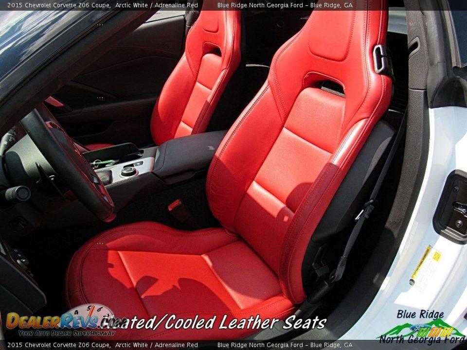 2015 Chevrolet Corvette Z06 Coupe Arctic White / Adrenaline Red Photo #14