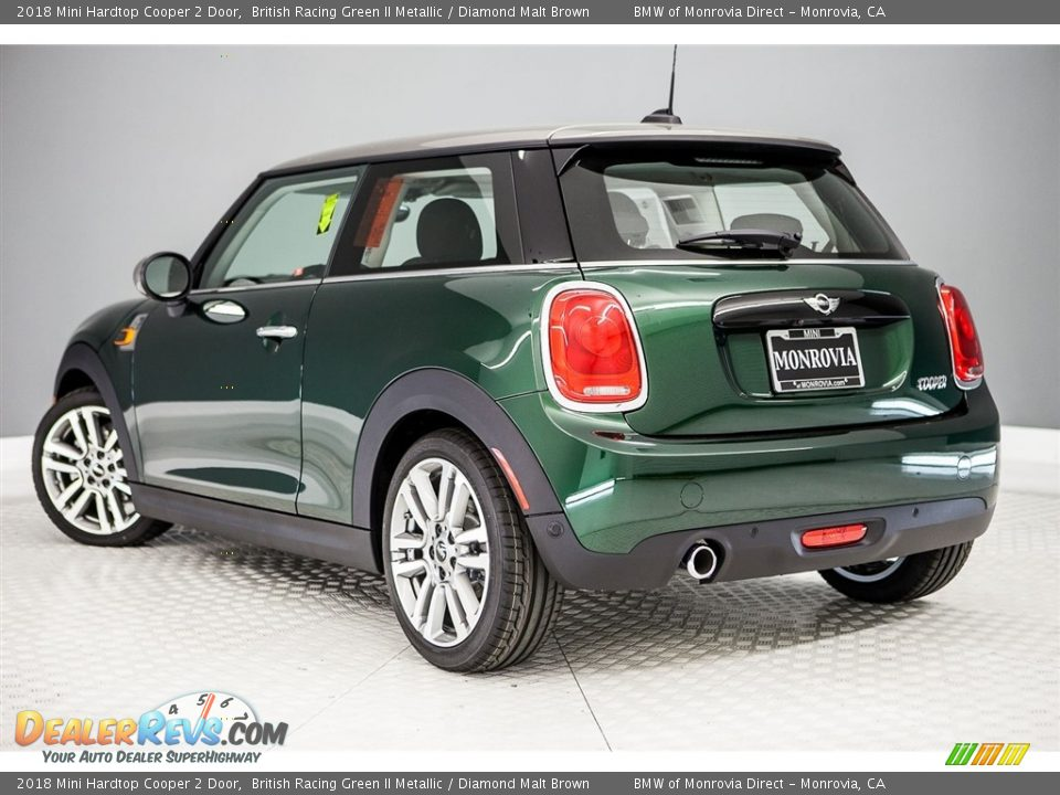 2018 Mini Hardtop Cooper 2 Door British Racing Green II Metallic / Diamond Malt Brown Photo #3