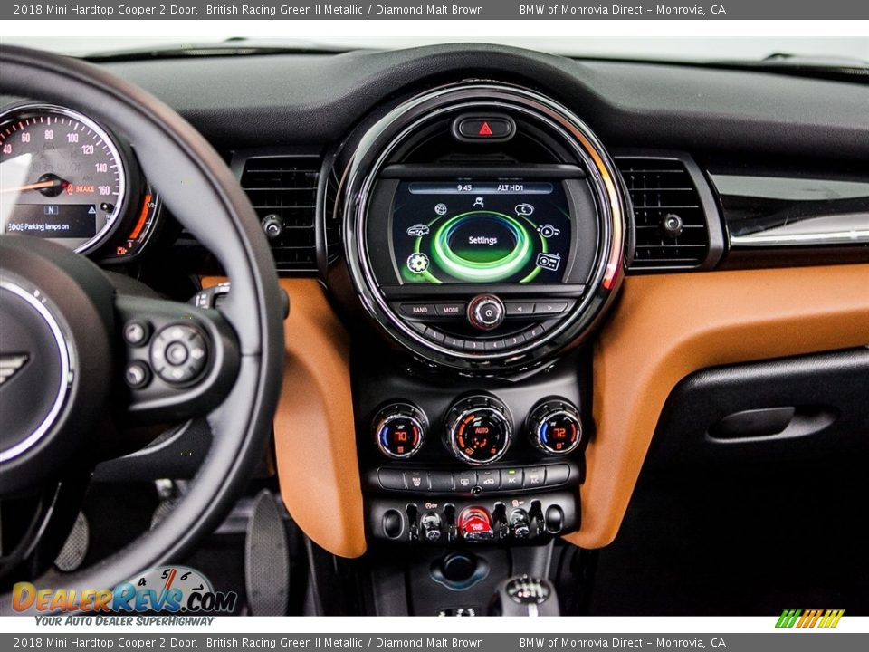 2018 Mini Hardtop Cooper 2 Door British Racing Green II Metallic / Diamond Malt Brown Photo #5