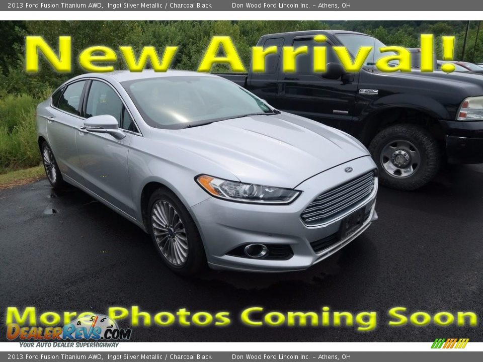 2013 Ford Fusion Titanium AWD Ingot Silver Metallic / Charcoal Black Photo #1