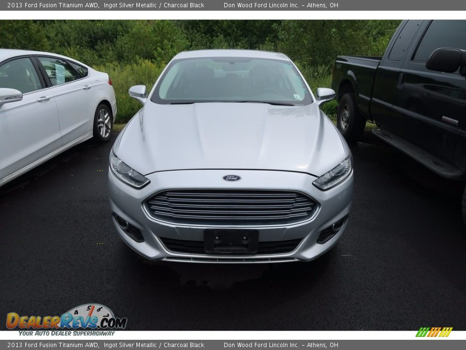 2013 Ford Fusion Titanium AWD Ingot Silver Metallic / Charcoal Black Photo #2