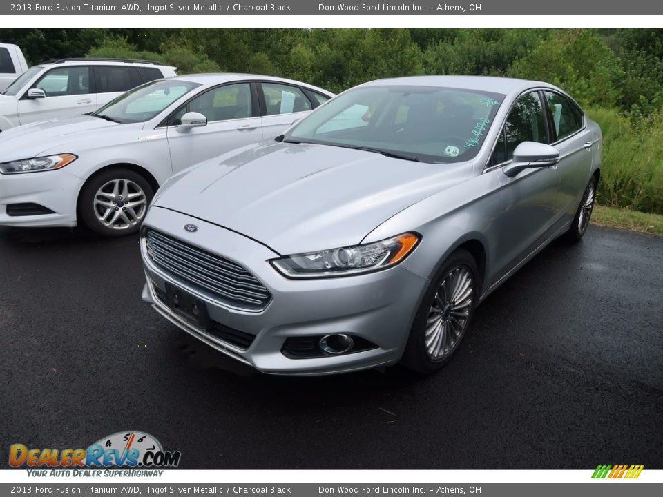 2013 Ford Fusion Titanium AWD Ingot Silver Metallic / Charcoal Black Photo #3