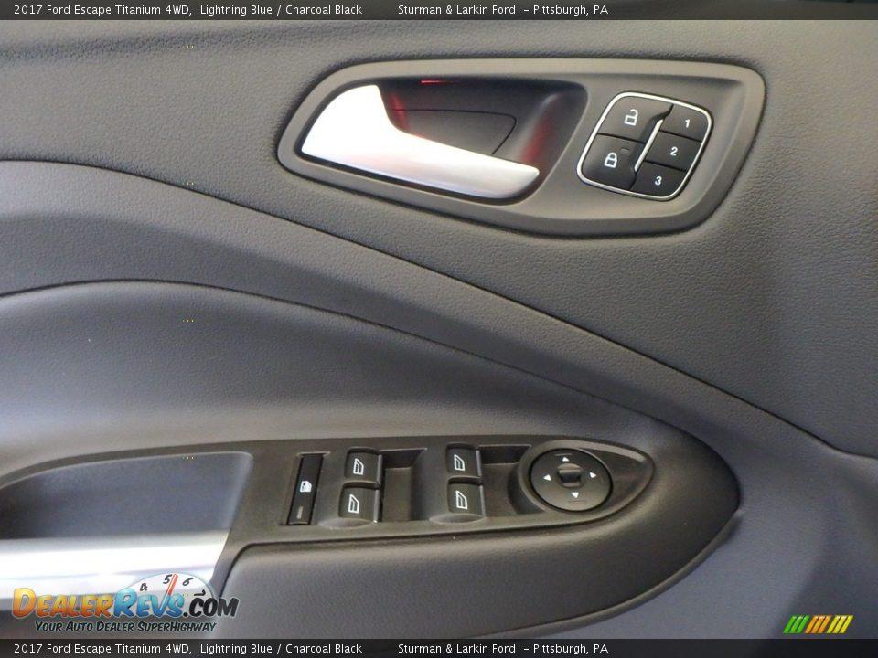 2017 Ford Escape Titanium 4WD Lightning Blue / Charcoal Black Photo #9