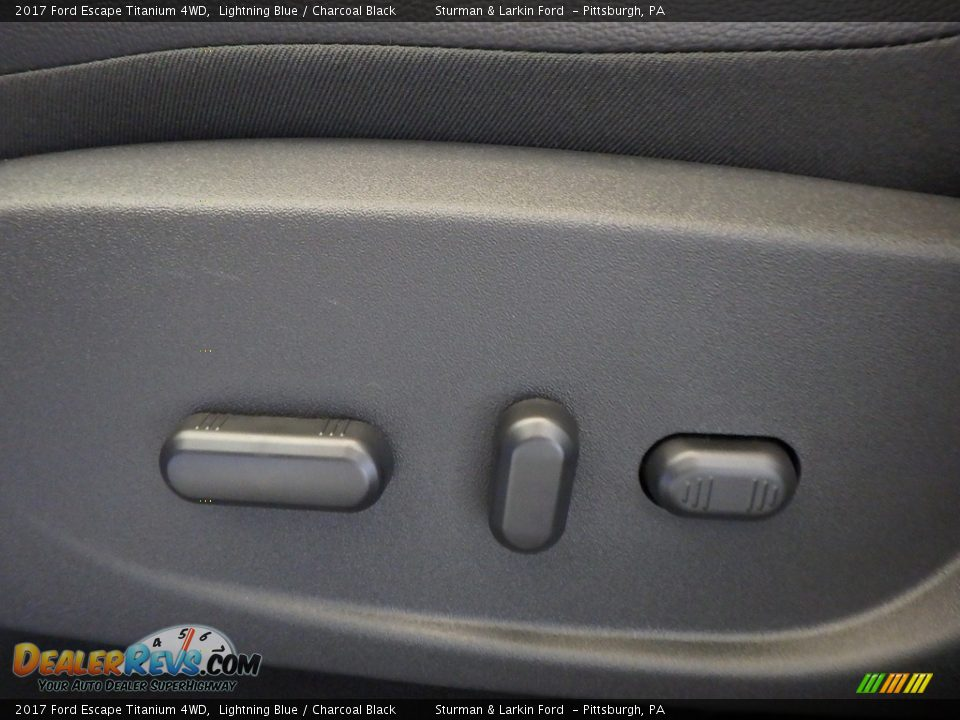 2017 Ford Escape Titanium 4WD Lightning Blue / Charcoal Black Photo #11
