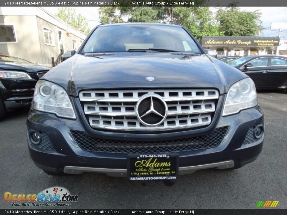 2010 Mercedes-Benz ML 350 4Matic Alpine Rain Metallic / Black Photo #2