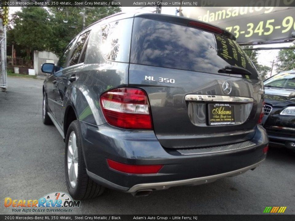2010 Mercedes-Benz ML 350 4Matic Alpine Rain Metallic / Black Photo #4
