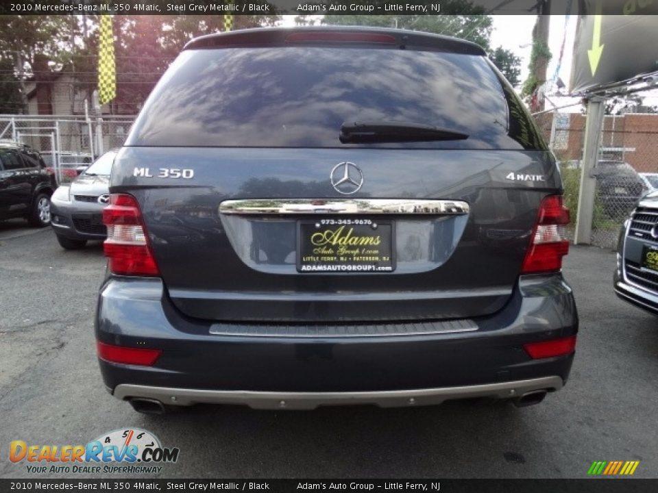 2010 Mercedes-Benz ML 350 4Matic Alpine Rain Metallic / Black Photo #5