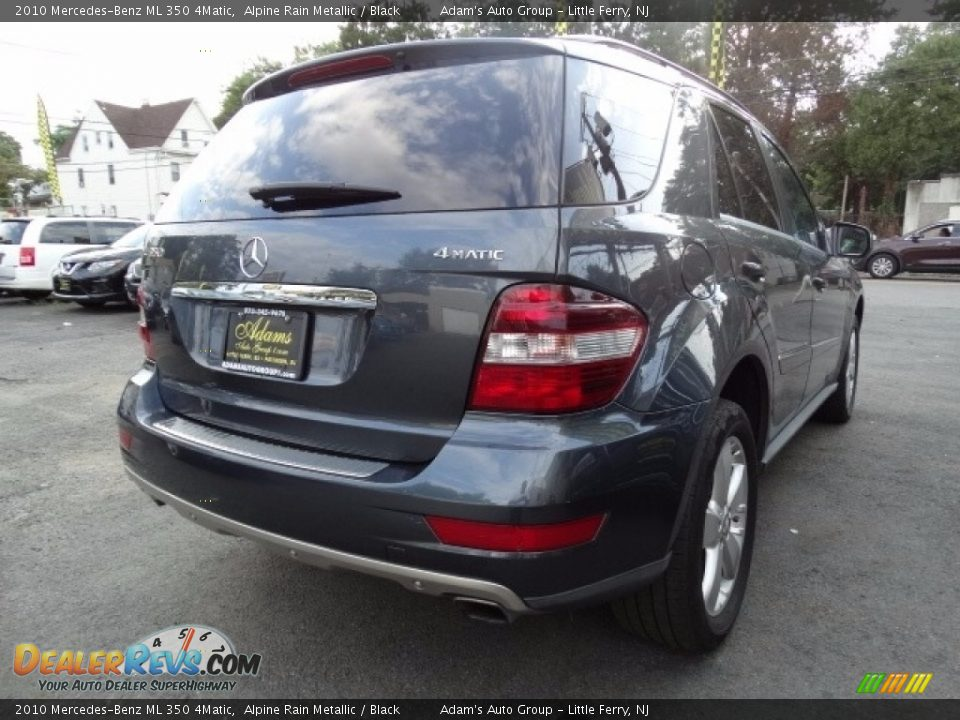 2010 Mercedes-Benz ML 350 4Matic Alpine Rain Metallic / Black Photo #6