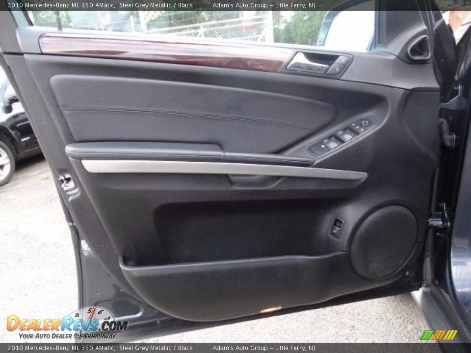 2010 Mercedes-Benz ML 350 4Matic Alpine Rain Metallic / Black Photo #8