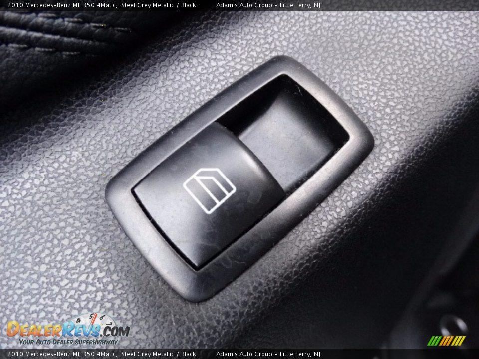 2010 Mercedes-Benz ML 350 4Matic Alpine Rain Metallic / Black Photo #12