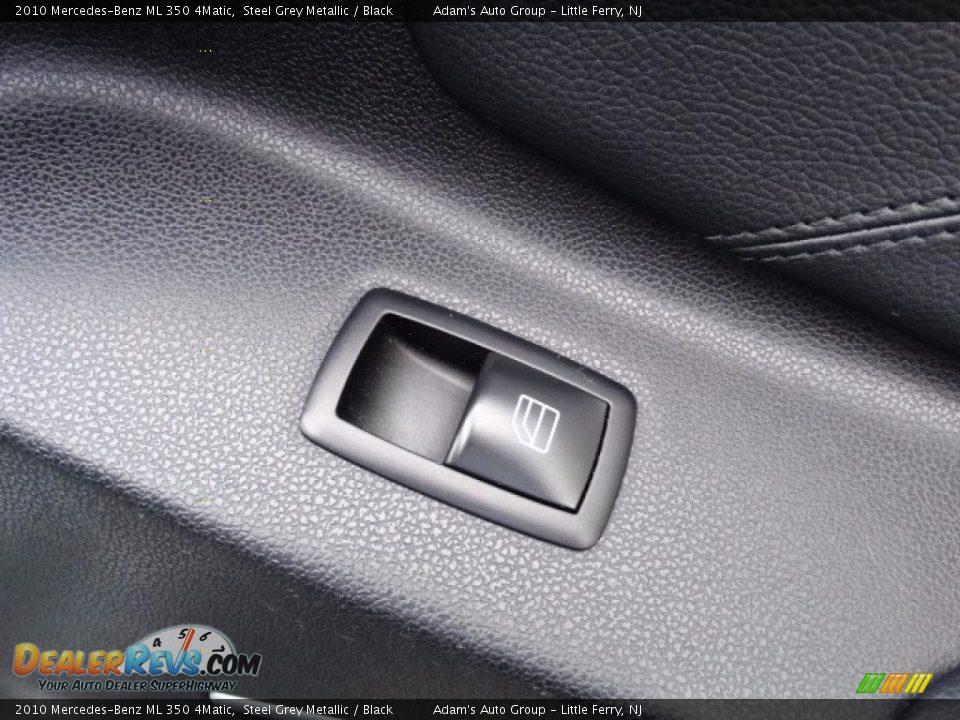 2010 Mercedes-Benz ML 350 4Matic Alpine Rain Metallic / Black Photo #15