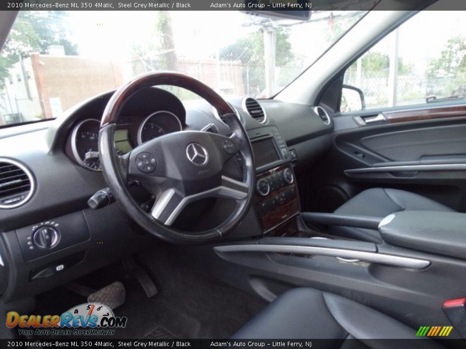 2010 Mercedes-Benz ML 350 4Matic Alpine Rain Metallic / Black Photo #21