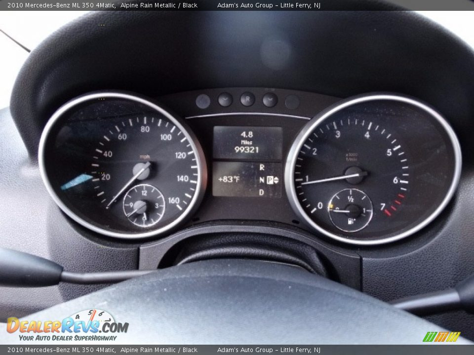 2010 Mercedes-Benz ML 350 4Matic Alpine Rain Metallic / Black Photo #25
