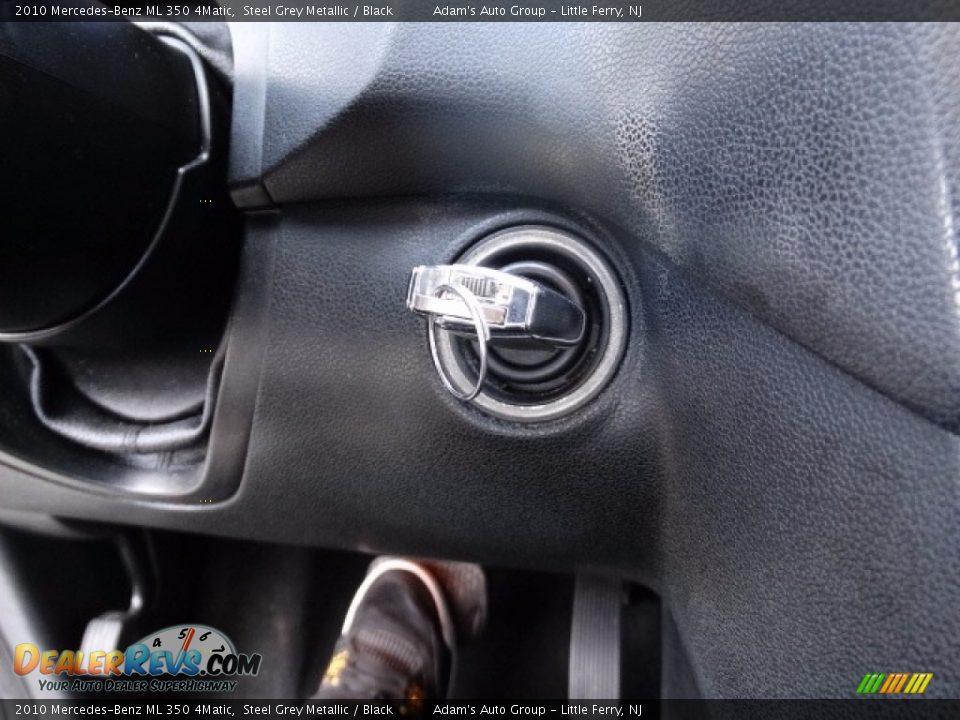 2010 Mercedes-Benz ML 350 4Matic Alpine Rain Metallic / Black Photo #26