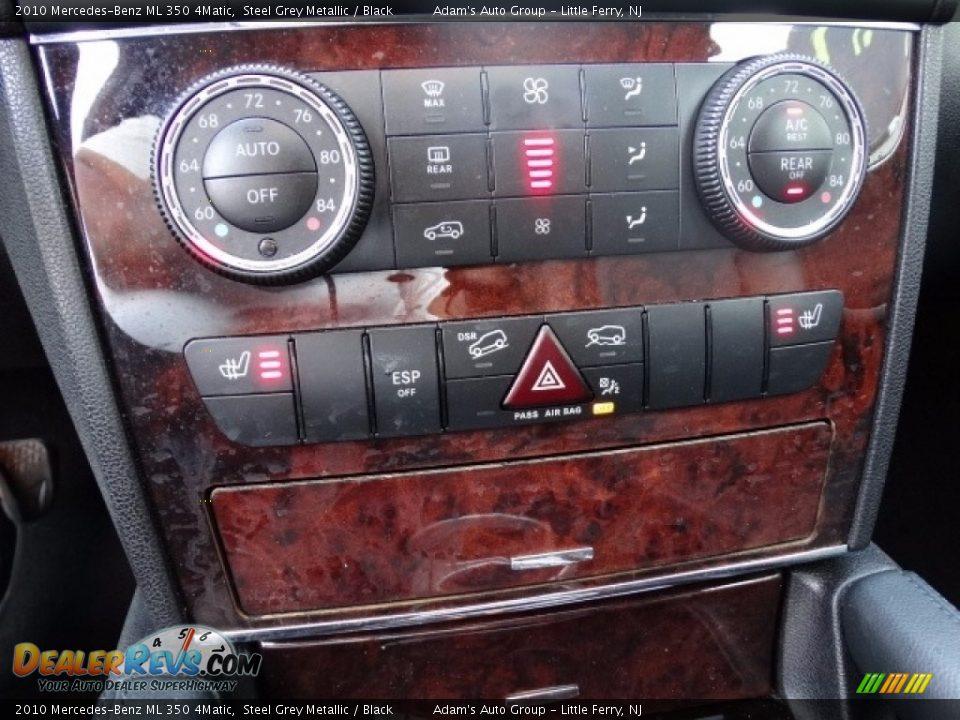 2010 Mercedes-Benz ML 350 4Matic Alpine Rain Metallic / Black Photo #29