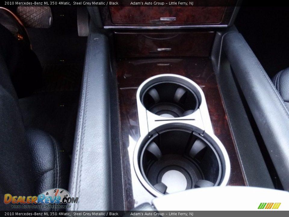 2010 Mercedes-Benz ML 350 4Matic Alpine Rain Metallic / Black Photo #31