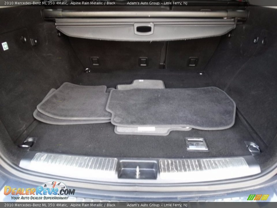 2010 Mercedes-Benz ML 350 4Matic Alpine Rain Metallic / Black Photo #35