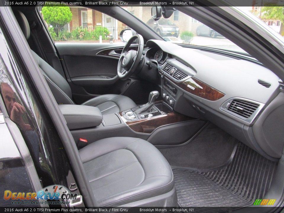 2016 Audi A6 2.0 TFSI Premium Plus quattro Brilliant Black / Flint Grey Photo #20