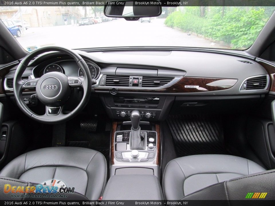 2016 Audi A6 2.0 TFSI Premium Plus quattro Brilliant Black / Flint Grey Photo #26