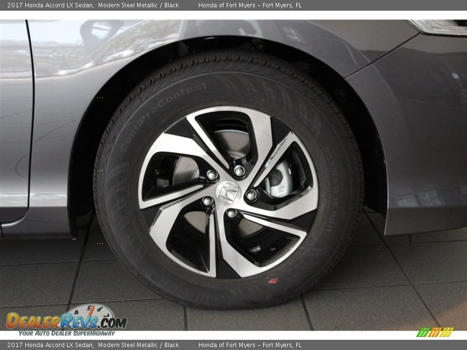 2017 Honda Accord LX Sedan Modern Steel Metallic / Black Photo #2