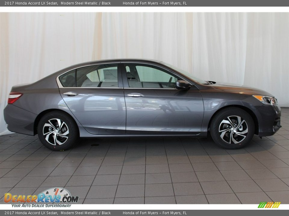 2017 Honda Accord LX Sedan Modern Steel Metallic / Black Photo #3