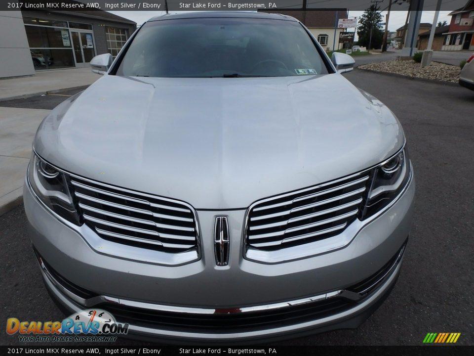 2017 Lincoln MKX Reserve AWD Ingot Silver / Ebony Photo #2