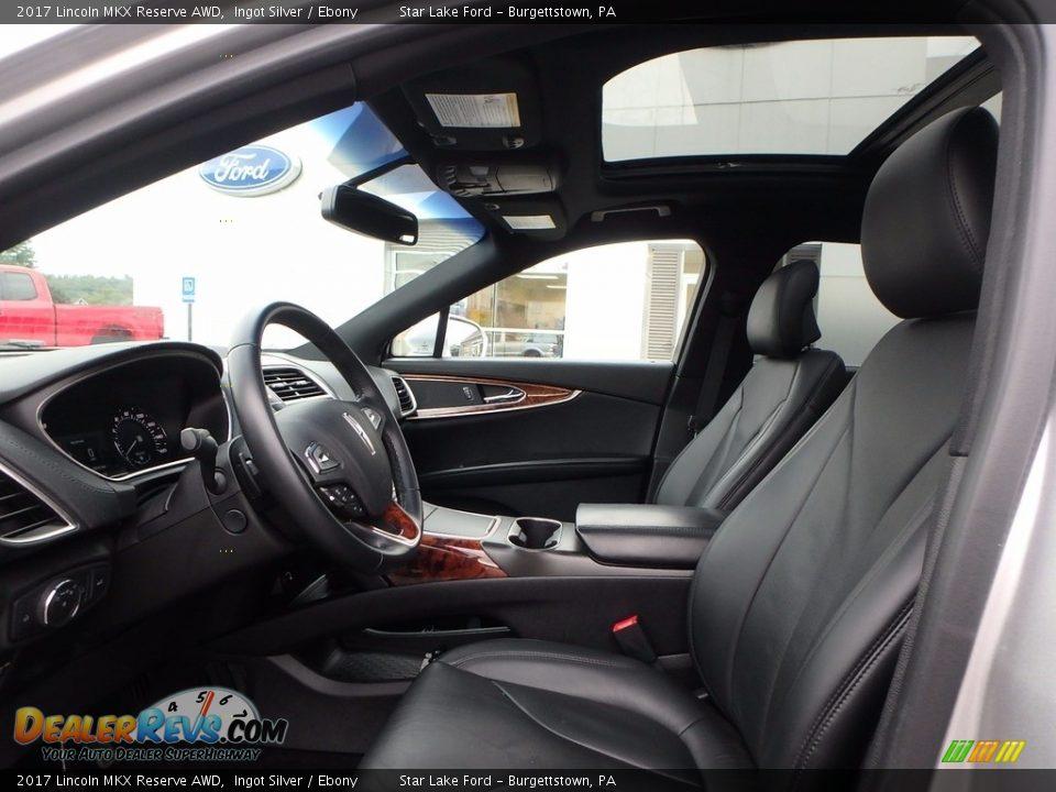 2017 Lincoln MKX Reserve AWD Ingot Silver / Ebony Photo #9
