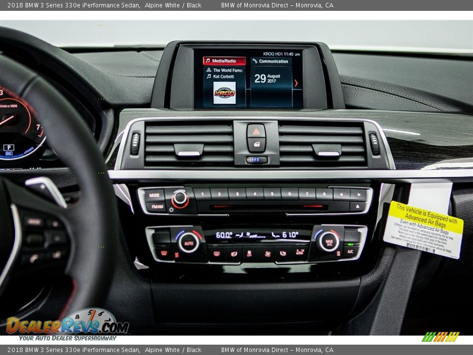 2018 BMW 3 Series 330e iPerformance Sedan Alpine White / Black Photo #6