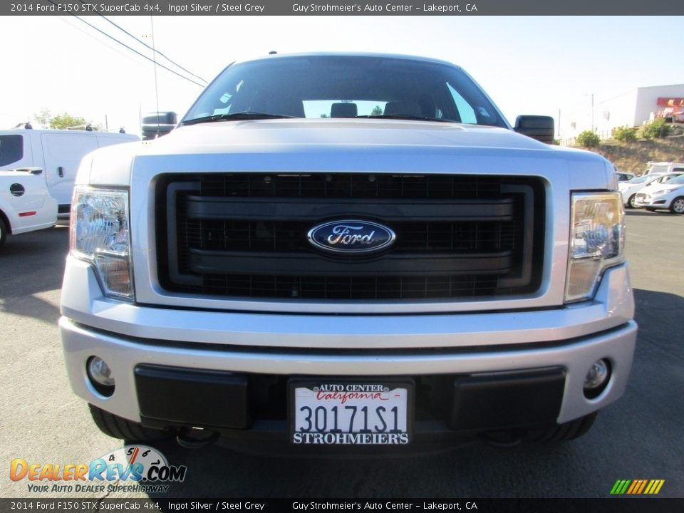 2014 Ford F150 STX SuperCab 4x4 Ingot Silver / Steel Grey Photo #2