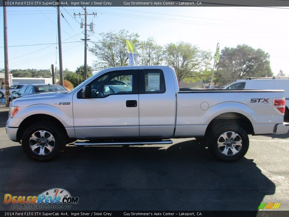2014 Ford F150 STX SuperCab 4x4 Ingot Silver / Steel Grey Photo #4