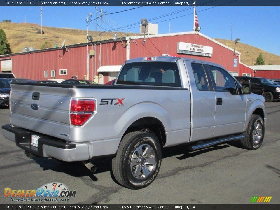 2014 Ford F150 STX SuperCab 4x4 Ingot Silver / Steel Grey Photo #7