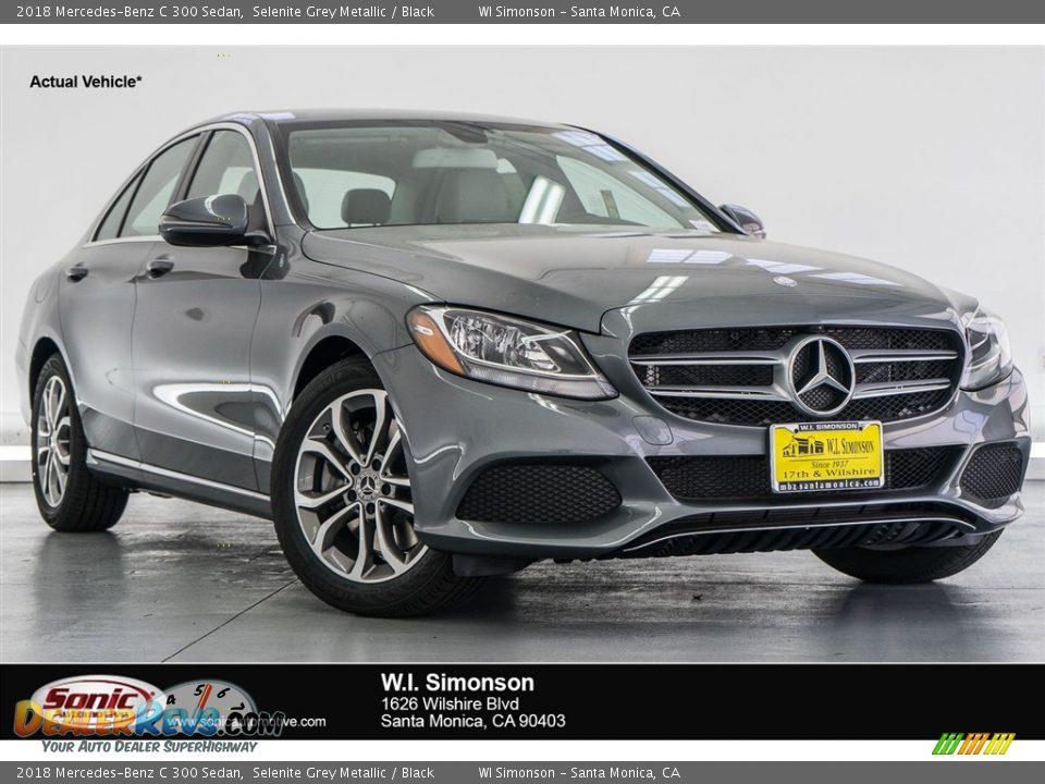 2018 Mercedes-Benz C 300 Sedan Selenite Grey Metallic / Black Photo #1