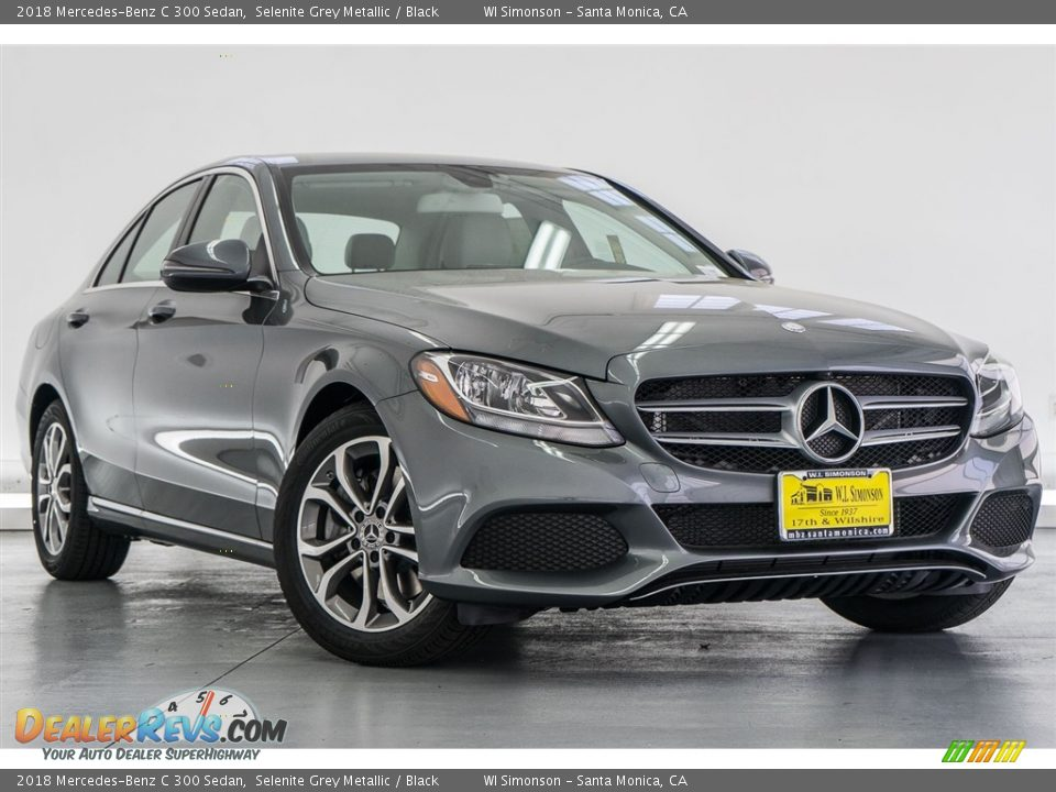 2018 Mercedes-Benz C 300 Sedan Selenite Grey Metallic / Black Photo #12
