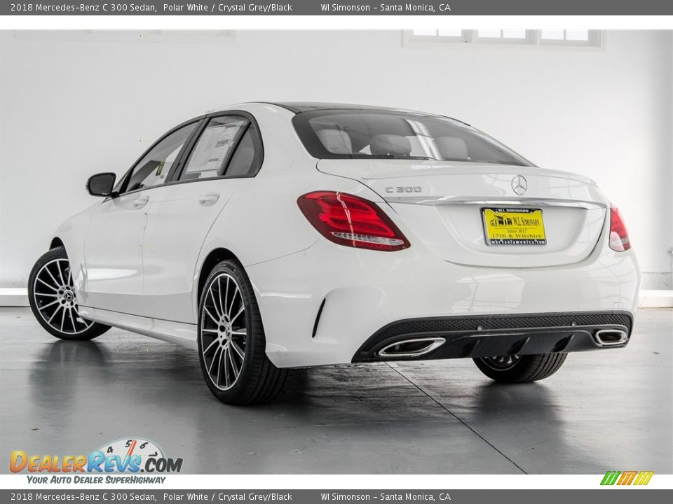 2018 Mercedes-Benz C 300 Sedan Polar White / Crystal Grey/Black Photo #3