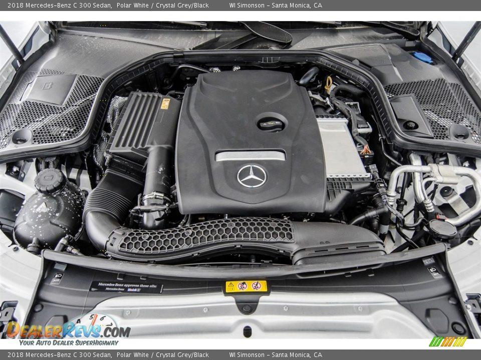 2018 Mercedes-Benz C 300 Sedan Polar White / Crystal Grey/Black Photo #8
