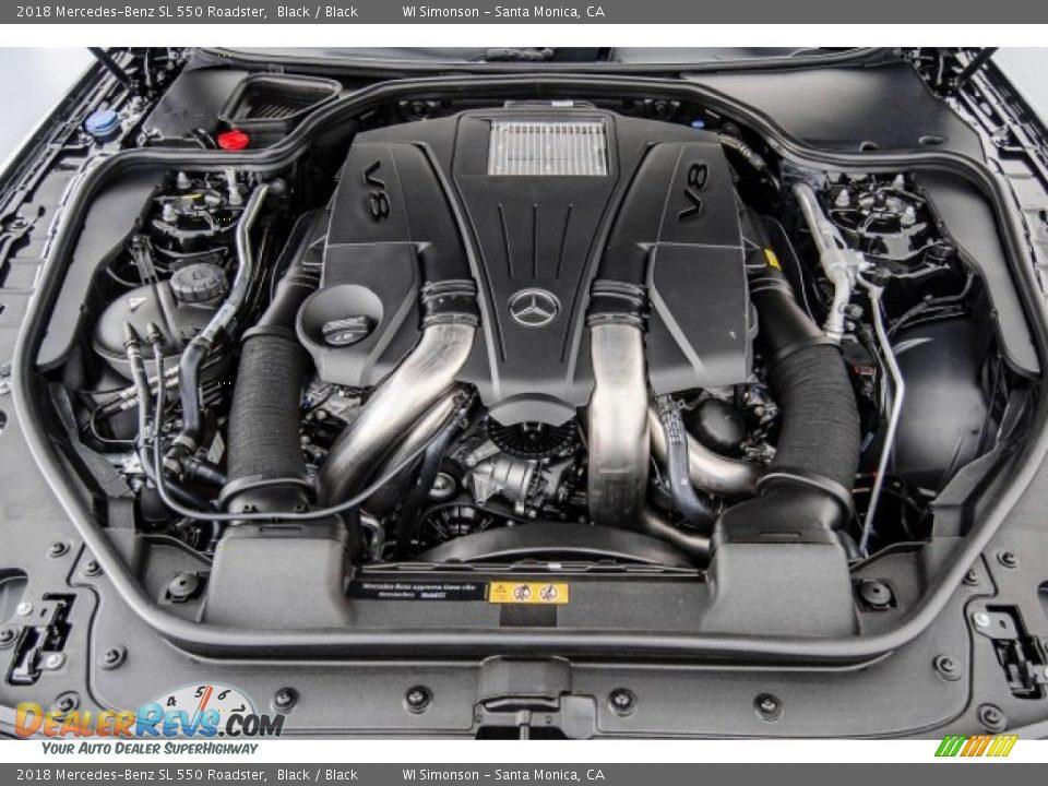 2018 Mercedes-Benz SL 550 Roadster 4.7 Liter DI biturbo DOHC 32-Valve VVT V8 Engine Photo #8