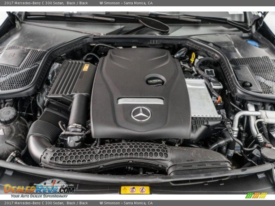 2017 Mercedes-Benz C 300 Sedan Black / Black Photo #8