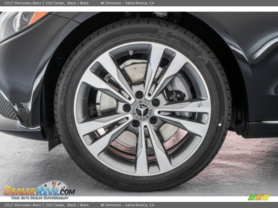 2017 Mercedes-Benz C 300 Sedan Black / Black Photo #9