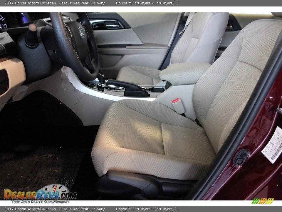 2017 Honda Accord LX Sedan Basque Red Pearl II / Ivory Photo #9