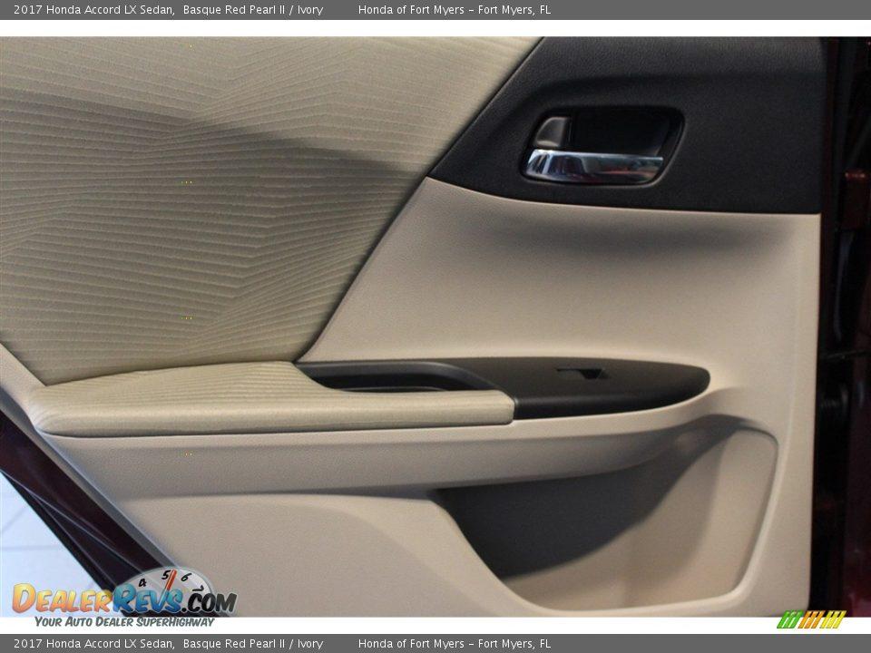 2017 Honda Accord LX Sedan Basque Red Pearl II / Ivory Photo #23