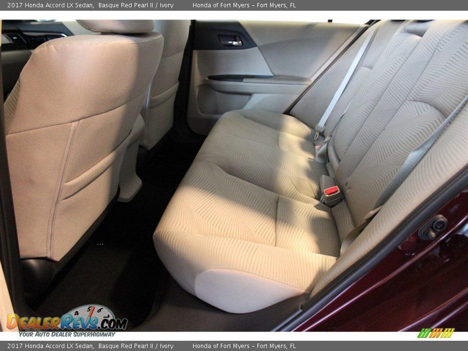 2017 Honda Accord LX Sedan Basque Red Pearl II / Ivory Photo #24
