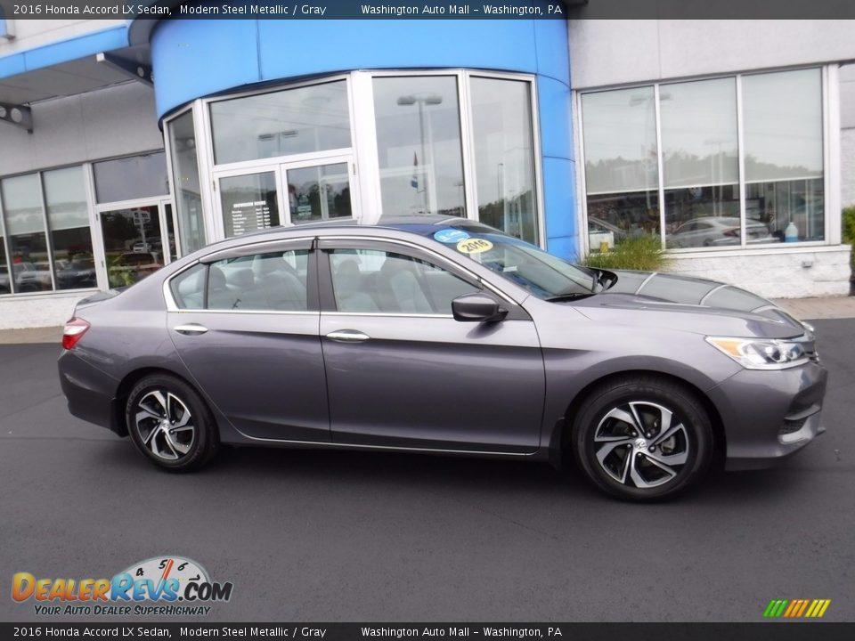 2016 Honda Accord LX Sedan Modern Steel Metallic / Gray Photo #2